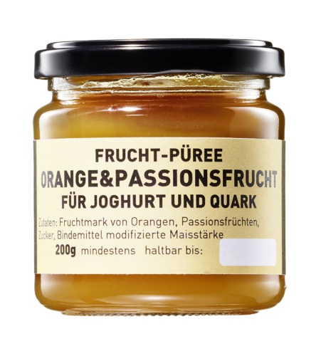 Fruchtpüree Orange Passionsfrucht 200 ml Glas