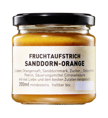 Fruchtpüree Orange Sanddorn 200ml Glas